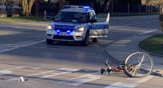 Potrącenie rowerzystek wBiałymstoku iŁomży