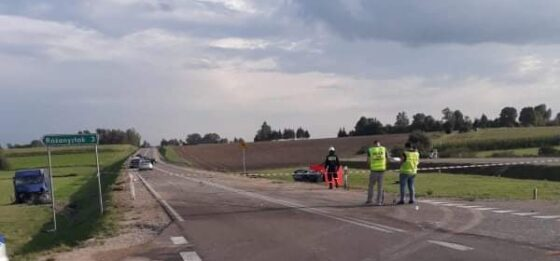 Śmiertelny wypadek natrasie Sokółka – Dąbrowa Białostocka