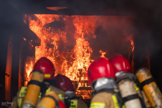 Pożar stodoły koło Bielska Podlaskiego