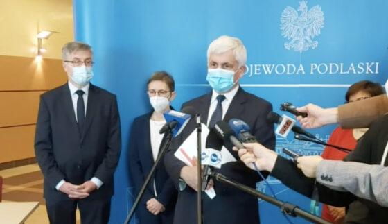 Wojewoda podlaski apeluje oszczepienie się przeciwko COVID-19 iprzestrzeganie reżimu sanitarnego